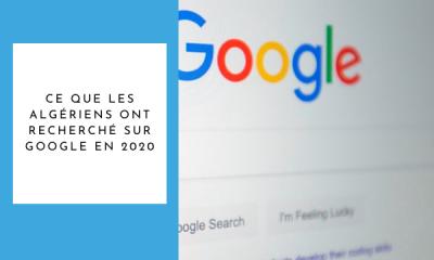 Recherches Google en Algérie 2020
